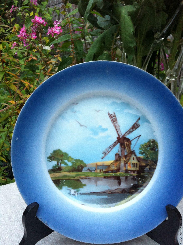 Plate decorative, hand painted (Holland), rarity, Vintage interior, Arnhem,  Фото №1