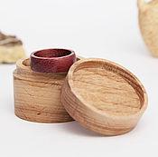 Материалы для творчества ручной работы. Ярмарка Мастеров - ручная работа Деревянная коробочка под кольцо. Handmade.