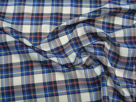 Шитье ручной работы. Ярмарка Мастеров - ручная работа. Купить Рубашечная ткань (х/б 95%, эл. 5%), ширина 147 см.. Handmade.