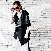 Одежда ручной работы. Ярмарка Мастеров - ручная работа Черная жилетка, кардиган женский. Handmade.