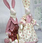 Куклы и игрушки ручной работы. Ярмарка Мастеров - ручная работа Пасхальные зайцы в стиле Тильда Тед и Молли. Handmade.