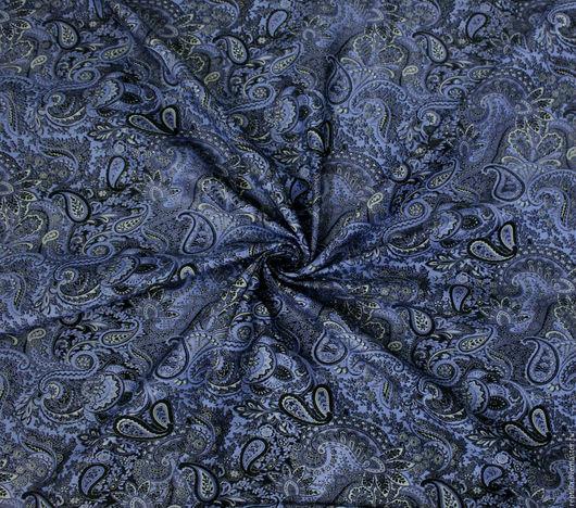 """Шитье ручной работы. Ярмарка Мастеров - ручная работа. Купить Натуральная замша """"Пейсли Синева"""". Handmade. Кожа, для аксессуаров, цветы"""