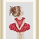 """Вышивка ручной работы. Ярмарка Мастеров - ручная работа. Купить Схема для вышивки крестиком """"Маленькая балерина"""". Handmade."""