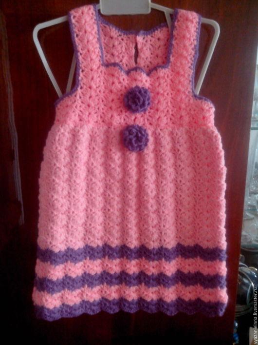Одежда для девочек, ручной работы. Ярмарка Мастеров - ручная работа. Купить Сарафан. Handmade. Комбинированный, вязаный сарафан, нарядный сарафан