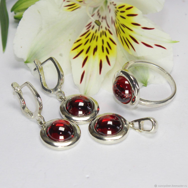 Veroniya earrings, ring and pendant with corundum in 925 silver, Jewelry Sets, Yerevan,  Фото №1