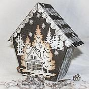 """Подарки к праздникам ручной работы. Ярмарка Мастеров - ручная работа подарочная коробочка """"В зимнем лесу-2"""". Handmade."""