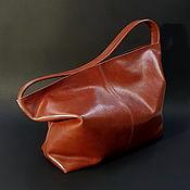 Сумки и аксессуары handmade. Livemaster - original item Women`s leather whiskey-colored bag. Bag. Handmade.