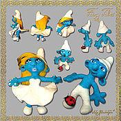"""Куклы и игрушки ручной работы. Ярмарка Мастеров - ручная работа Валяные игрушки """"Смурфики"""". Handmade."""