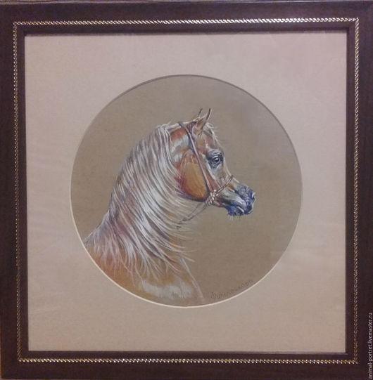 Животные ручной работы. Ярмарка Мастеров - ручная работа. Купить Портрет арабской лошади. Handmade. Комбинированный, конный портрет, лошадь