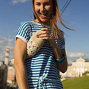 Одежда ручной работы. Ярмарка Мастеров - ручная работа Платье-тельняшка. Handmade.