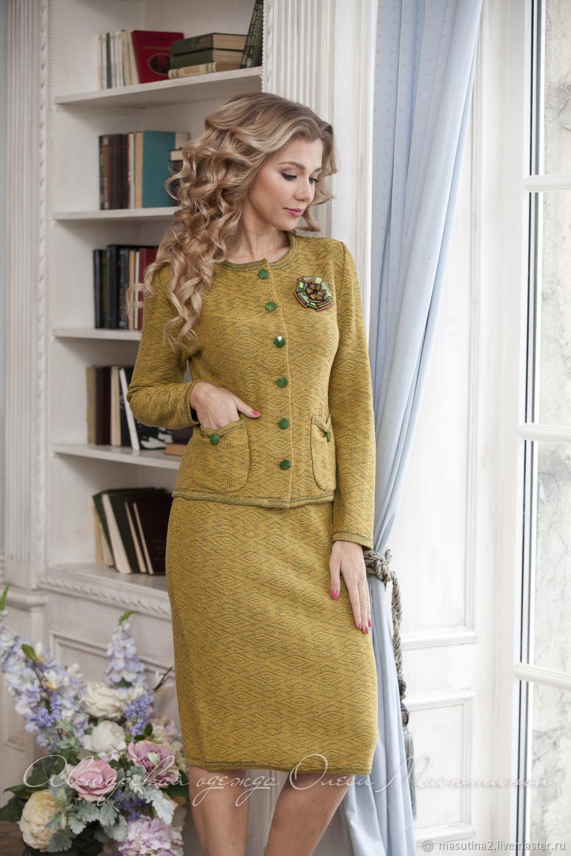 Suit ' Sweet mustard', Suits, St. Petersburg,  Фото №1