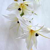 Цветы и флористика handmade. Livemaster - original item Silk flowers Branch of lilies. Handmade.