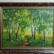 Картины и панно handmade. Livemaster - original item Oil on Canvas painting in baguette size 50h40. Handmade.