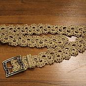 Ремни ручной работы. Ярмарка Мастеров - ручная работа Ремень из джута ``Ажурный``. Handmade.