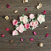 """Работы для детей, ручной работы. Ярмарка Мастеров - ручная работа Набор заколок """"Нежность роз"""". Handmade."""