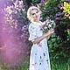 """Платья ручной работы. Ярмарка Мастеров - ручная работа. Купить Бохо стиль """"Роза"""" женское платье, дизайнер Ангелина Гуздева. Handmade."""