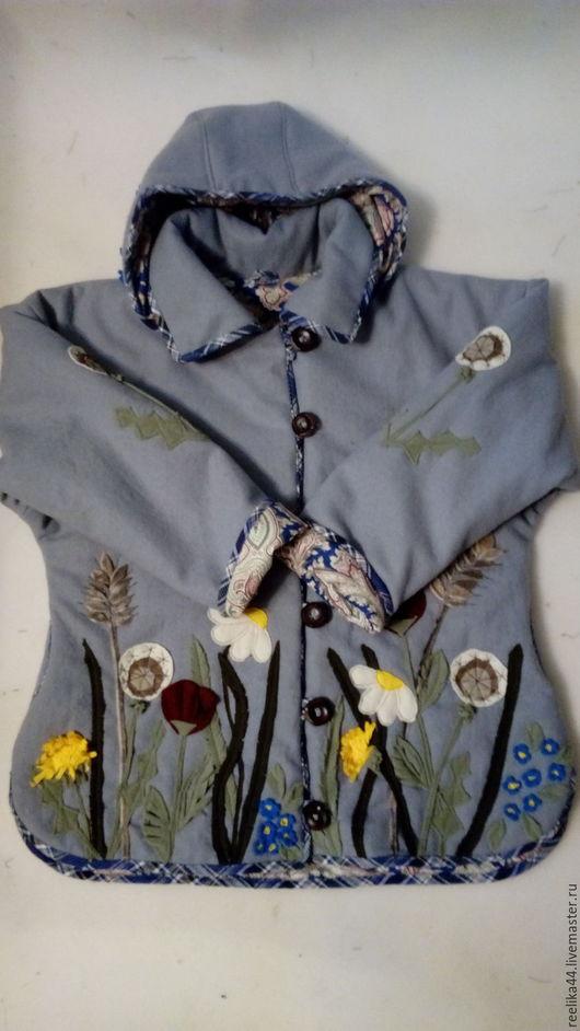 """Верхняя одежда ручной работы. Ярмарка Мастеров - ручная работа. Купить Куртка из шерсти """" Полевые цветы"""". Handmade. Рисунок"""