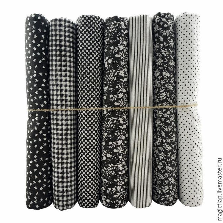 Набор тканей хлопок Черно-белое кино. Для пэчворка, текстиля, декора, Шитье, Истра, Фото №1