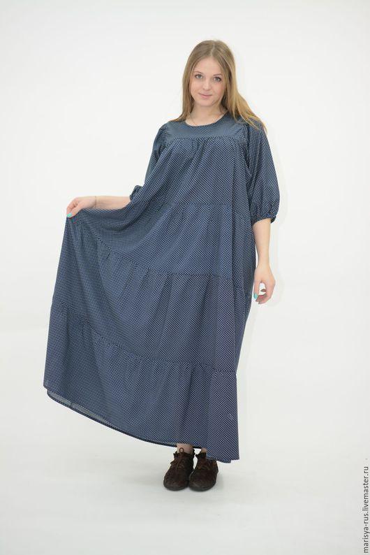 """Платья ручной работы. Ярмарка Мастеров - ручная работа. Купить Платье """"Элегантный синий"""". Handmade. Тёмно-синий"""