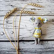 Куклы и игрушки ручной работы. Ярмарка Мастеров - ручная работа Акция -50% Аксинья — мышка-тедди. Handmade.