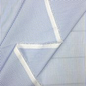 Материалы для творчества handmade. Livemaster - original item Cotton shirt art. 32.0004 (blue and White). Handmade.