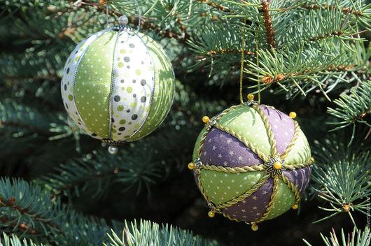 Новый год 2017 ручной работы. Ярмарка Мастеров - ручная работа. Купить Новогодний шар. Handmade. Украшение на елку, ручная работа