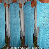 """Одежда ручной работы. Ярмарка Мастеров - ручная работа платье в пол """"Бирюзовое настроение"""". Handmade."""