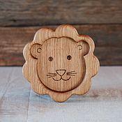 Посуда handmade. Livemaster - original item Children`s wooden plate lion Cub. Handmade.