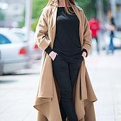 Одежда handmade. Livemaster - original item Beige autumn coat cashmere - CT0001CA. Handmade.