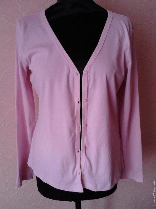 Одежда. Ярмарка Мастеров - ручная работа. Купить кардиган розовый женский. Handmade. Бледно-розовый, винтаж