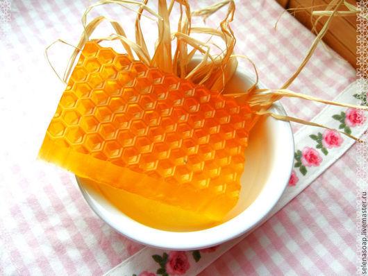 """Мыло ручной работы. Ярмарка Мастеров - ручная работа. Купить Мыло """"Мед в сотах"""". Handmade. Оранжевый, медовое, мед"""