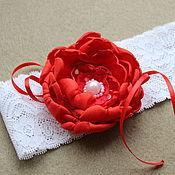 Свадебный салон ручной работы. Ярмарка Мастеров - ручная работа Свадебная подвязка невесты Красная ручной работы. Handmade.