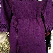 Платья ручной работы. Ярмарка Мастеров - ручная работа Платье вязаное  женское с отделкой ручной работы. Handmade.