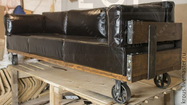 Furniture Handmade. Livemaster   Handmade. Buy Industrial Revolution.Leather  Sofa, Industrial Sofa ...