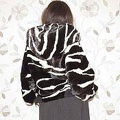 """Одежда ручной работы. Ярмарка Мастеров - ручная работа Куртка-бомбер """"Зебра"""".. Handmade."""