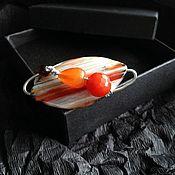 Украшения handmade. Livemaster - original item Ring with agate and carnelian