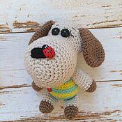 Куклы и игрушки handmade. Livemaster - original item Dog Toshka.Knitted toy.. Handmade.