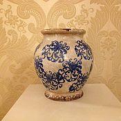 Материалы для творчества ручной работы. Ярмарка Мастеров - ручная работа Керамическая ваза для цветов. Handmade.