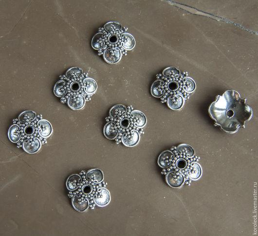 Для украшений ручной работы. Ярмарка Мастеров - ручная работа. Купить Шапочка Гирлянда из оксидированного серебра ручной работы. Handmade.