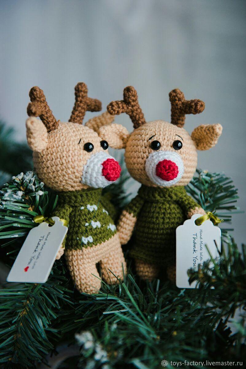 Пара Оленят:) Милый подарок и сувенир, Мягкие игрушки, Одесса,  Фото №1