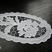 Для дома и интерьера ручной работы. Ярмарка Мастеров - ручная работа Салфетка ришелье Белый цветок. Handmade.