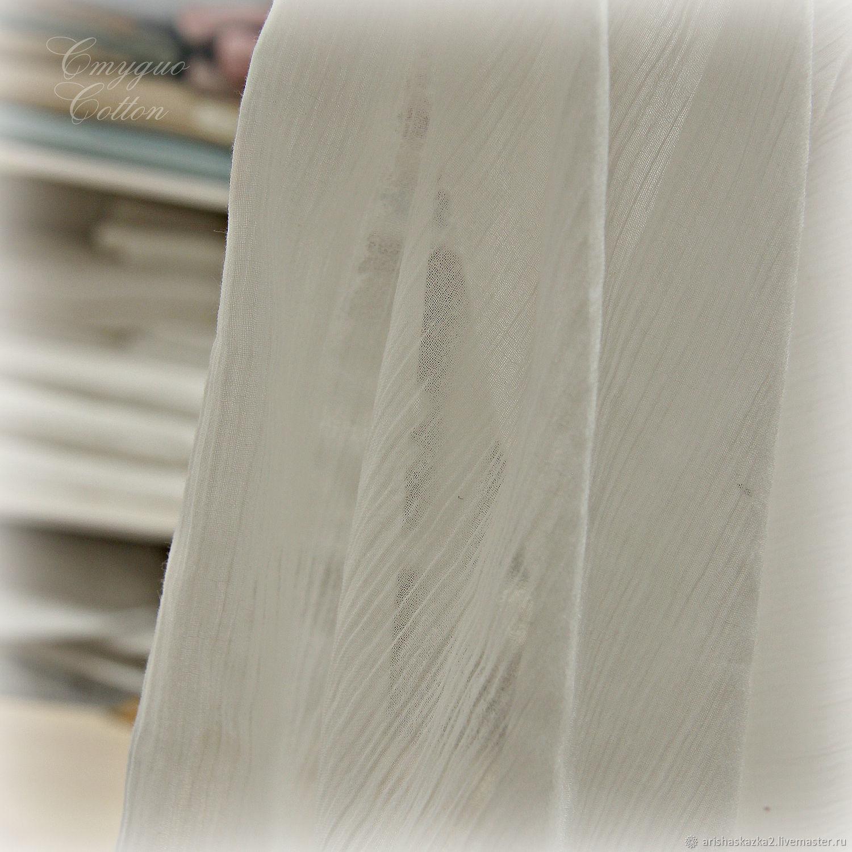 Жатка тонкая  (молочно-белая )Жатка тонкая вуаль, Ткани, Тула,  Фото №1