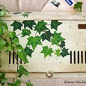 """Для дома и интерьера ручной работы. Ярмарка Мастеров - ручная работа Почтовый ящик """"Зеленый плющ"""". Handmade."""