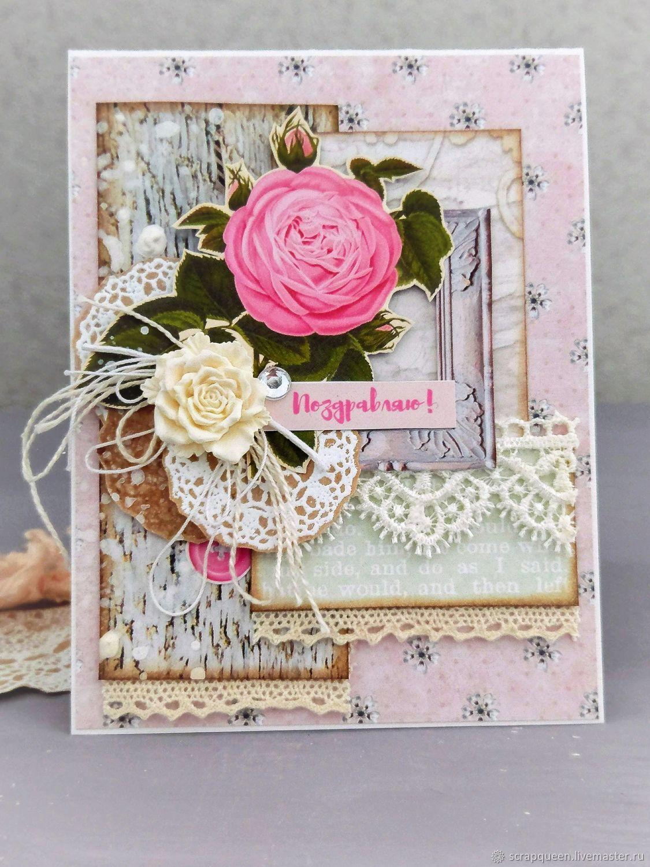 Открытки ручной работы из роз