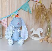 Куклы и игрушки ручной работы. Ярмарка Мастеров - ручная работа Зайка голубой в горошек. Handmade.