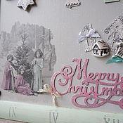 Подарки к праздникам ручной работы. Ярмарка Мастеров - ручная работа Рождественское панно.Мятное. Handmade.
