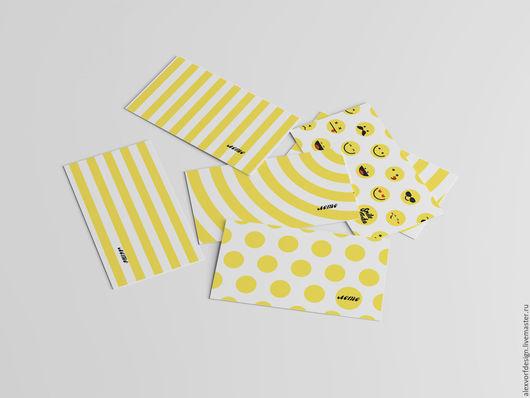 """Визитки ручной работы. Ярмарка Мастеров - ручная работа. Купить Визитка """"Лето"""". Handmade. Желтый, визитки ручной работы, цветная"""