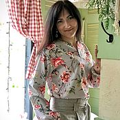 Одежда handmade. Livemaster - original item Maki blouse with 3D print. Handmade.