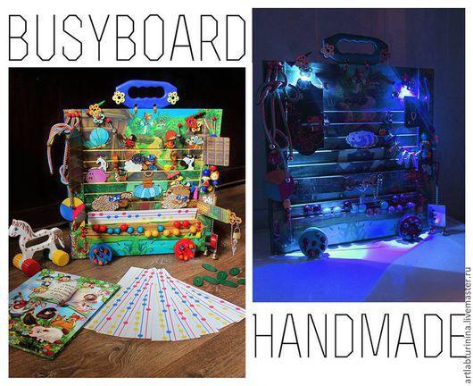 Развивающие игрушки ручной работы. Ярмарка Мастеров - ручная работа. Купить Доска - игрушка развивающая от 1 до 5 лет. Handmade.