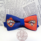 Аксессуары handmade. Livemaster - original item bow tie cska/ football club cska/ pfc cska/cska. Handmade.